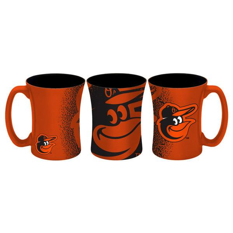 Baltimore Orioles Mocha Coffee Mug 14oz