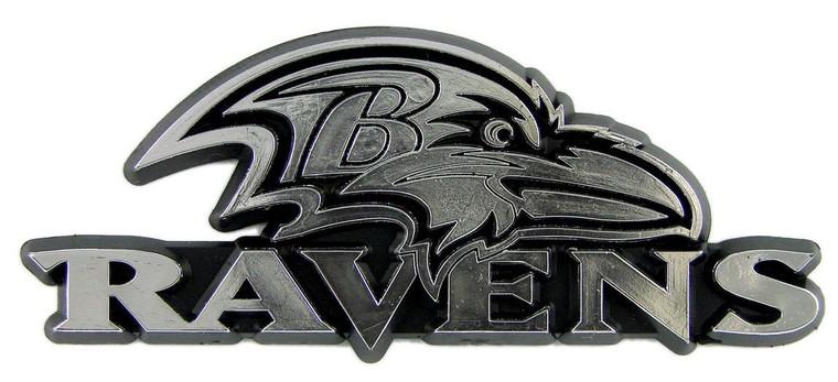 Baltimore Ravens Silver Auto Emblem