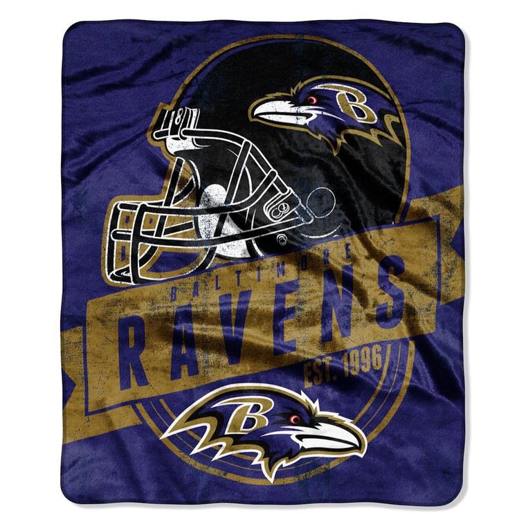 "Baltimore Ravens Grandstand Design Raschel Blanket 50x60"""