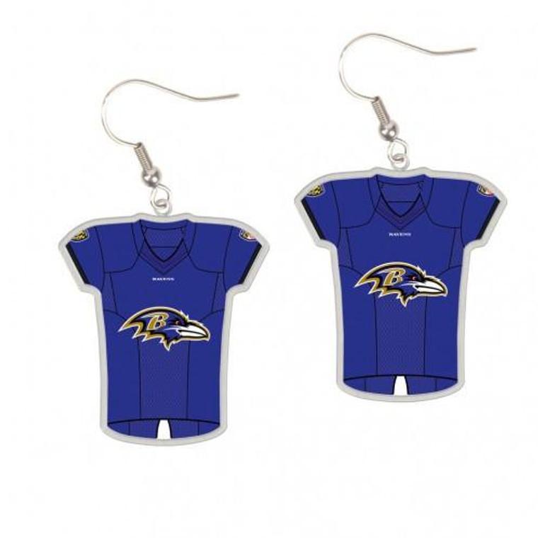 Baltimore Ravens Earrings Jersey Style