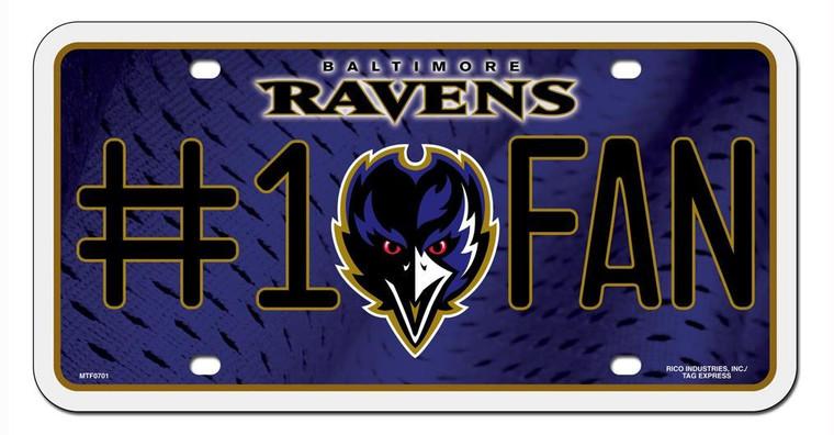 Baltimore Ravens License Plate - #1 Fan