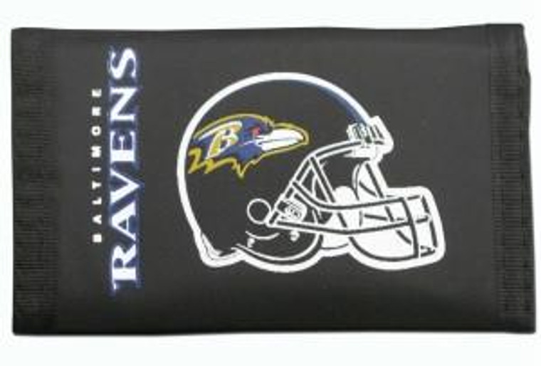 Baltimore Ravens Nylon Trifold Wallet