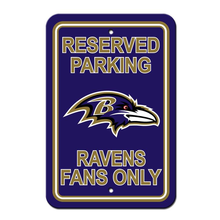 "Baltimore Ravens Sign Reserved Parking Sign 12x18"""