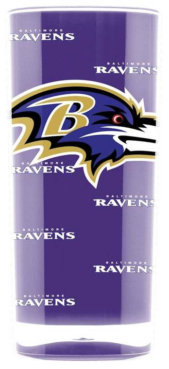 Baltimore Ravens Tumbler - Square Insulated (16oz)