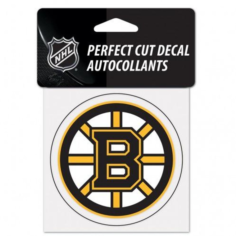 """Boston Bruins Perfect Cut Color Decal 4x4"""""""