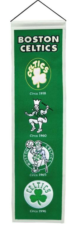"Boston Celtics Wool Heritage Banner 8x32"""