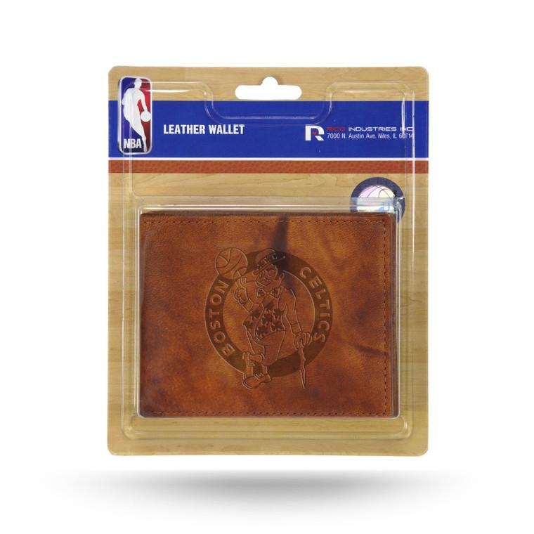 Boston Celtics Leather Embossed Billfold