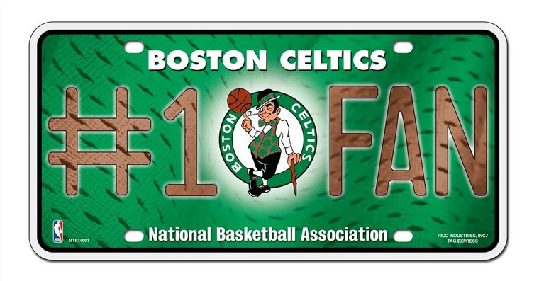 Boston Celtics License Plate - #1 Fan