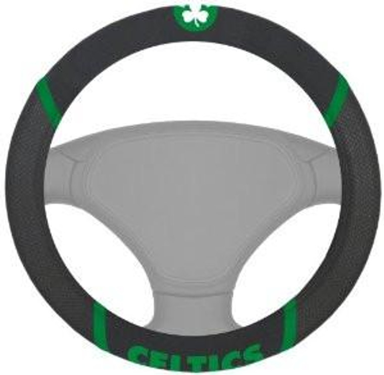 Boston Celtics Steering Wheel Cover - Mesh/Stitched