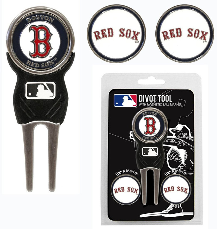Boston Red Sox Golf Divot Tool with 3 Markers