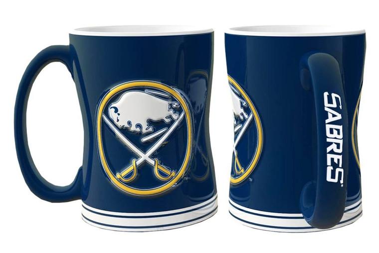 Buffalo Sabres Sculpted Relief Coffee Mug 14oz