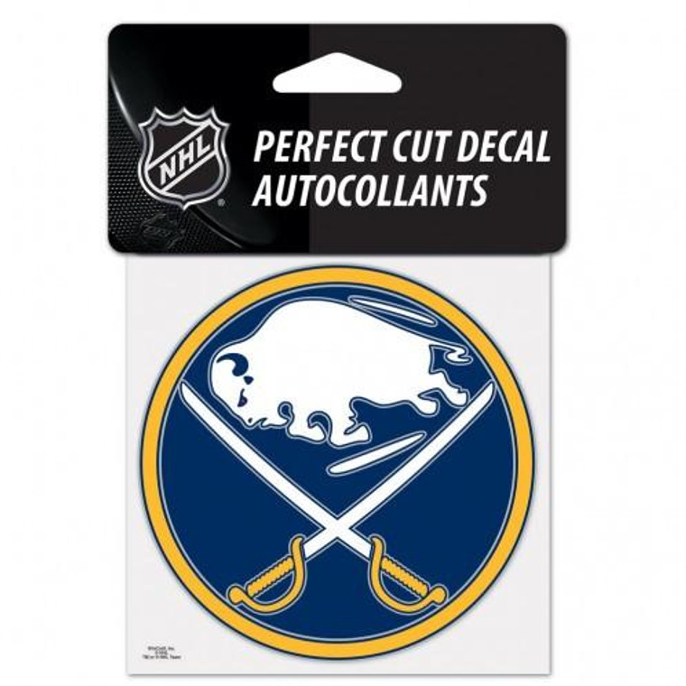 """Buffalo Sabres Perfect Cut Color Decal 4x4"""""""