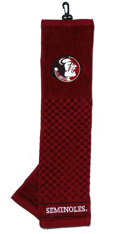 """Florida State Seminoles Embroidered Golf Towel 16x22"""""""