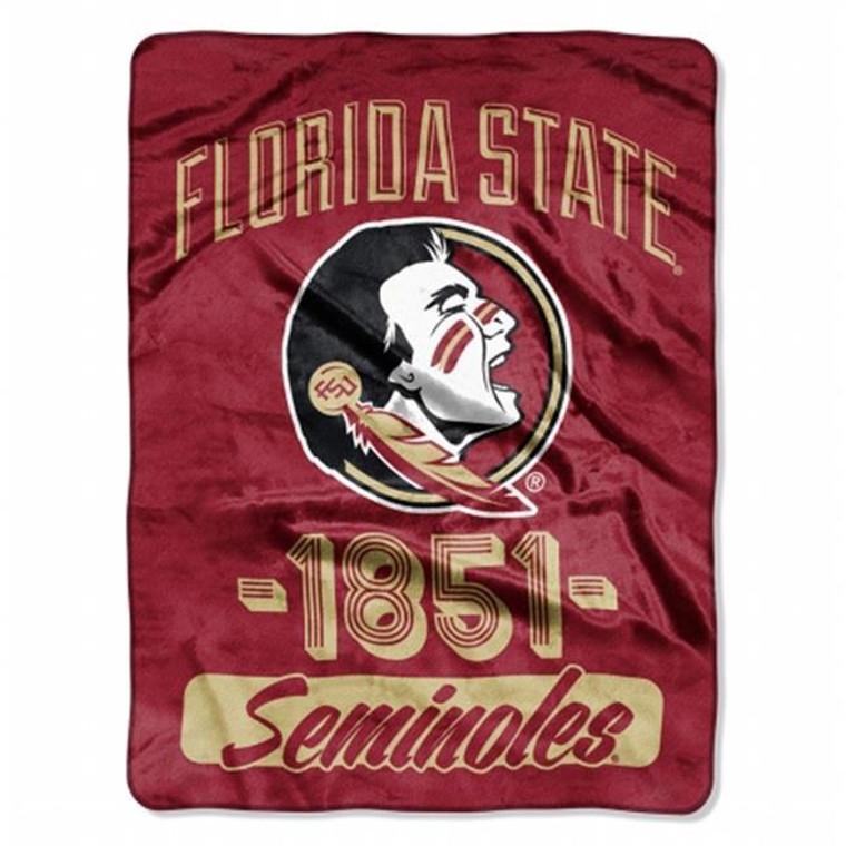 Florida State Seminoles Blanket 46x60 Raschel Vasity Design Rolled
