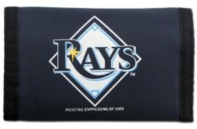 Tampa Bay Rays Nylon Trifold Wallet
