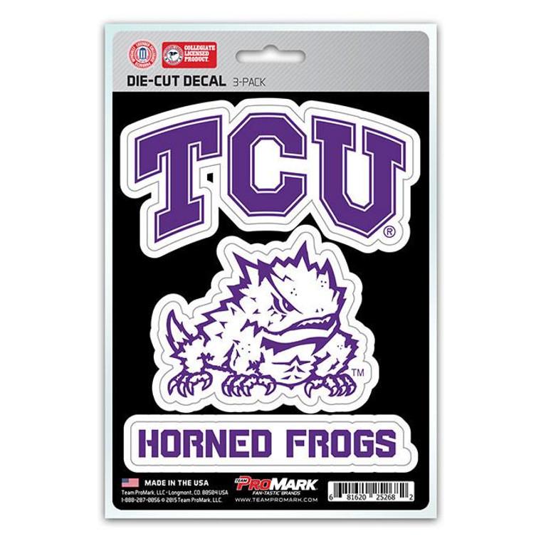 TCU Horned Frogs Die Cut Team Decals 3pk
