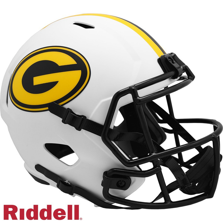 Green Bay Packers Riddell Full Size Lunar Eclipse Speed Helmet