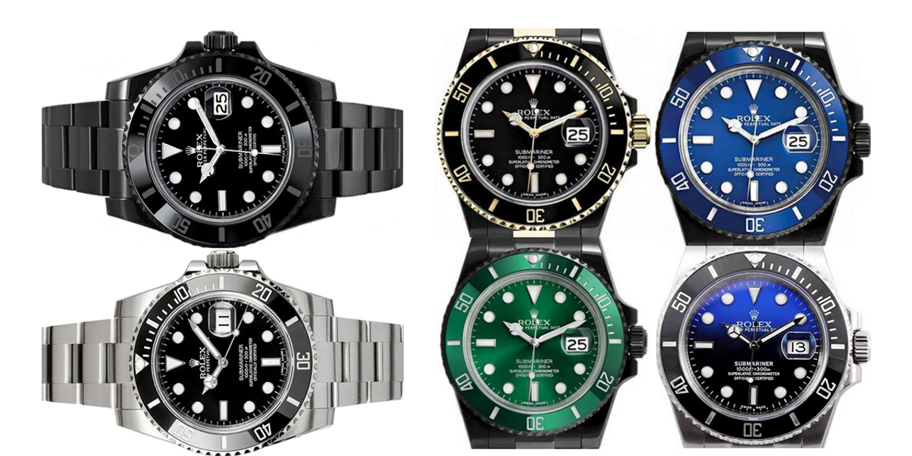 Buy a Black Rolex Submariner DLC PVD Watch Blue or Green