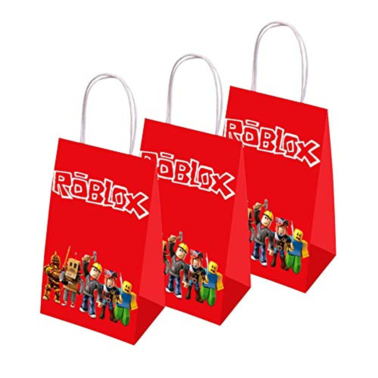 12 Gift Bags for Roblox Party Bags Birthday Decorations Party Bags Supplies Set for Children
