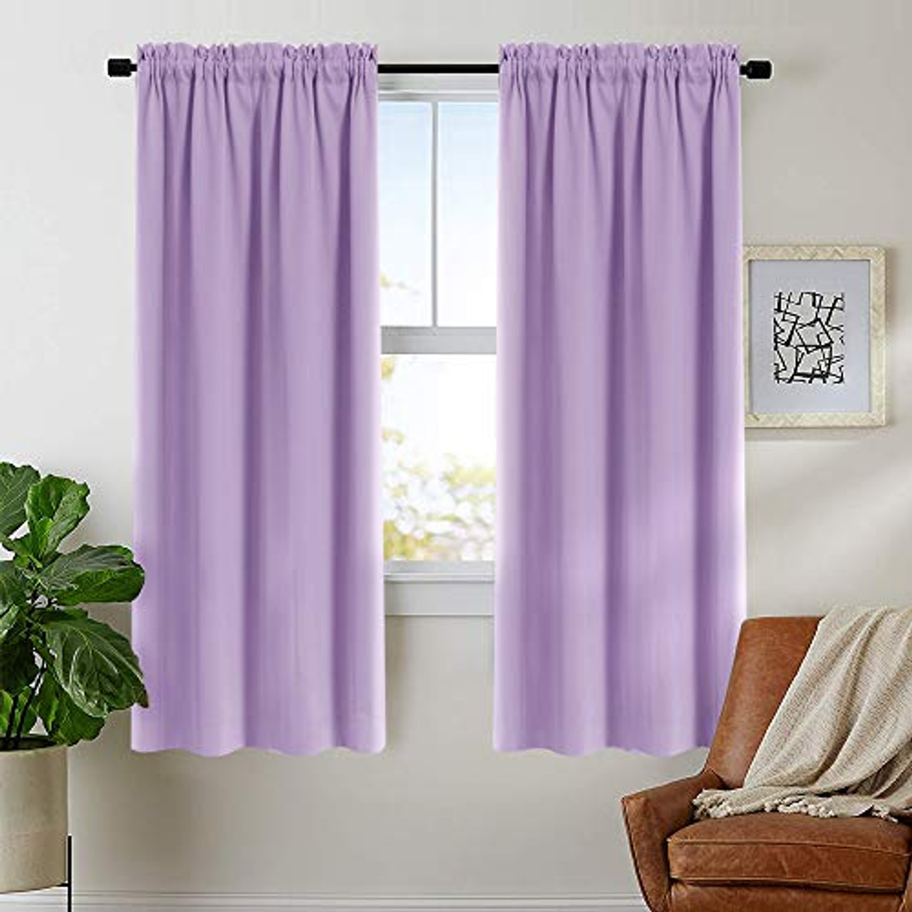 Lilac Curtains Living Room Darkening 72 Inches Long Moderate Lilacout Window Curtain Panels Bedroom Drapes Triple Weave Rod Pocket Window Curtains 2 Panels Toyboxtech