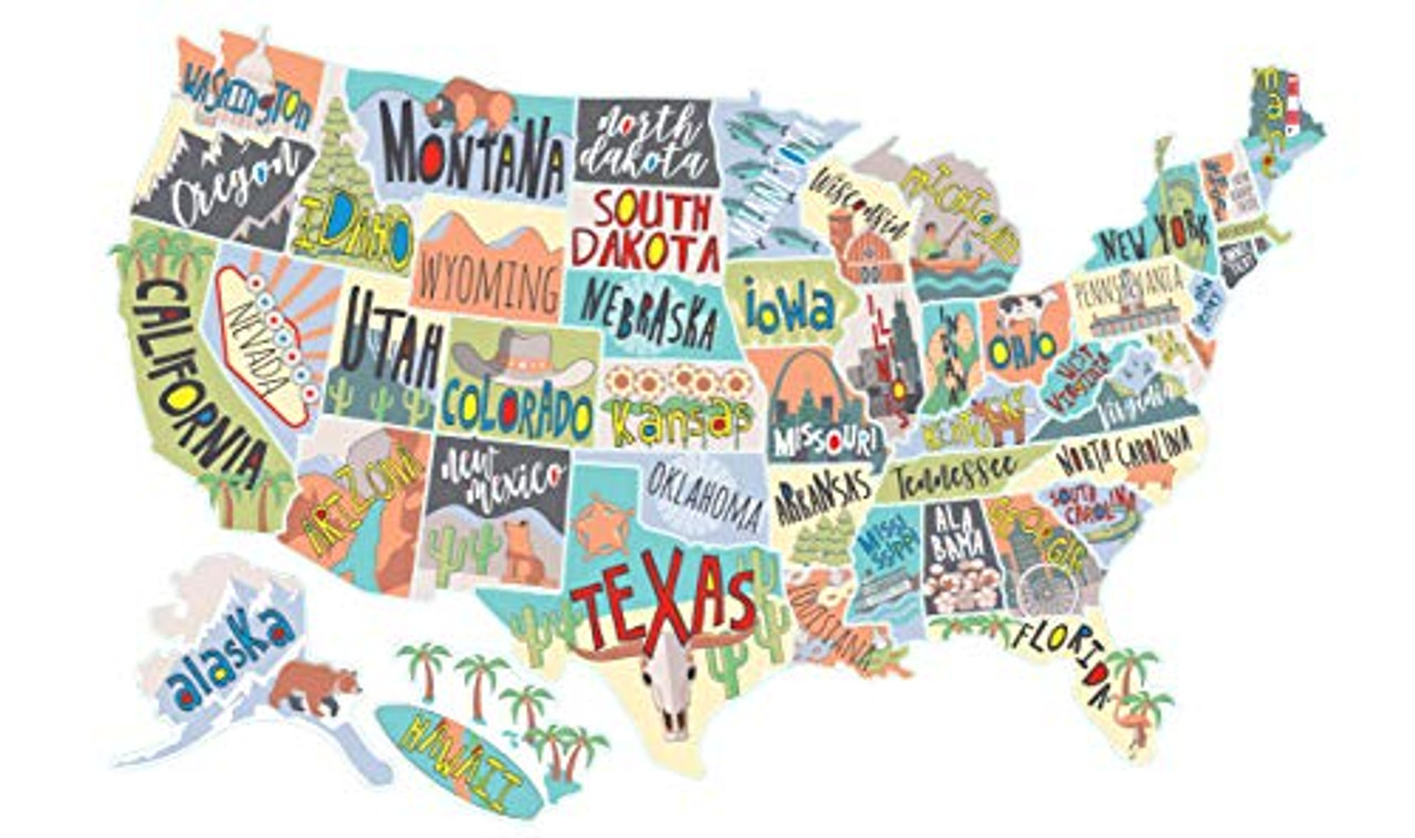 Us Map Track States Visited US States Map Travel Tracker Sticker Set | United States Adventure