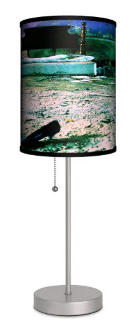 Lamp-In-A-Box SPS-FAR-MLAHE Featured Artists Miki Lansdowne Abandoned Heart Sport Lamp, Silver