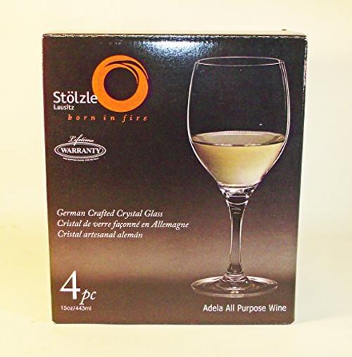 Stlzle Lead-Free Crystalline 4-Pack Adela All Purpose Wine Set, 15-ounce