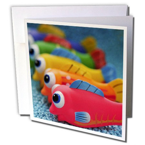 3dRose Greeting Cards, Oregon, Fish Bathtub Toys (gc_93588_2)