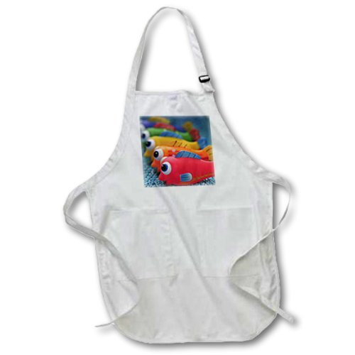 3dRose apr_93588_2 USA, Oregon, Portland. Fish Bathtub Toys-Us38 Bja0464-Jaynes Gallery-Medium Length Apron with Pouch Pockets, 22 by 24-Inch