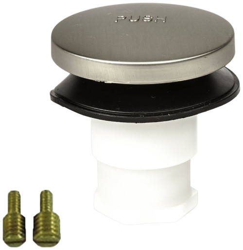 PF WaterWorks Universal Toe Touch (Tip Toe or Foot Actuated) Bath Tub/Bathtub Drain Stopper includes 3/8' and 5/16' Fittings, Brushed Nickel, PF0935-BN-TT-S