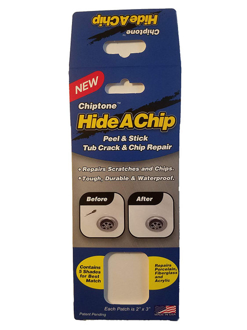 Chiptone Hide-A-Chip Peel & Stick Bathtub Crack and Chip Repair Kit