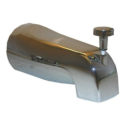 LASCO 08-1013 1/2-Inch Copper Slip Fit, Diverter Style Bathtub Spout, Chrome Plated