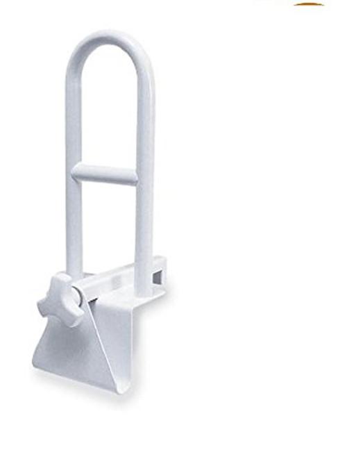 Healthline Steel Clamp-on Tub Rail, Anti-Slip Bathroom Bathtub Grab Rail Handrail, Safety Rail for Elderly and Seniors, White