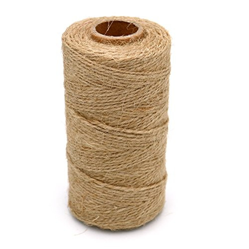 Twine,328 Feet Natural Jute Twine,2 Ply Arts and Crafts Jute Rope,DIY Gifts Crafts or Gardening Packing String(1PCS)