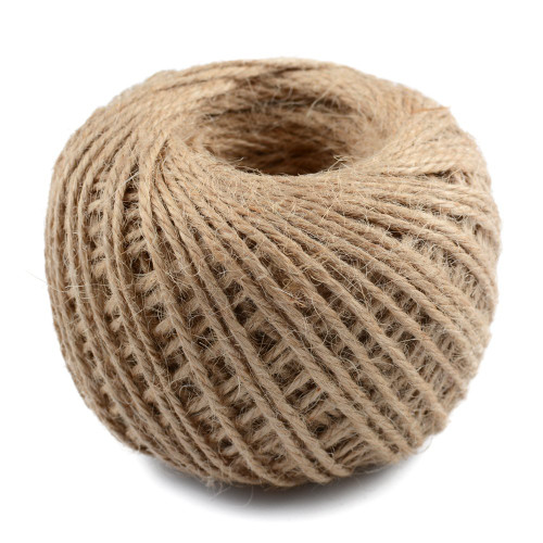 328 Feet Natural Jute Twine 3 Ply Gift Wrapping String DIY Rope Garden Twine Cord for Arts Crafts and Gardening Applications