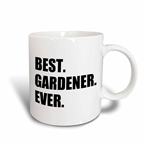 3dRose mug_185002_2 Best Gardener Ever- Fun Gift for Avid Gardeners and Gardening Fans Ceramic Mug, 15-Ounce