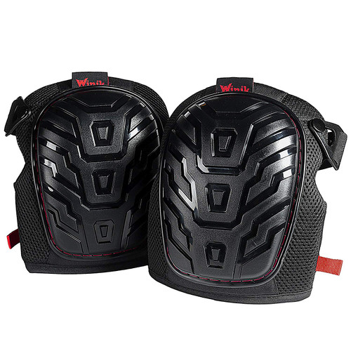 Construction Knee Pads for Work - Heavy Duty Knee Guard & Knee Protector Designed For Gardening & Flooring Knee Pads - Pro Construction Kneepads - 1 Pair of Flexible Non-Skid Black Knee Pads