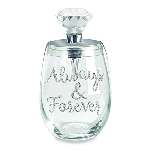 Wild Eye Designs Stemless 16oz Wine Glass & Stopper Set (Always and Forever)