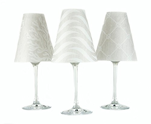 di Potter Wine Glass Shades,  Vienna White