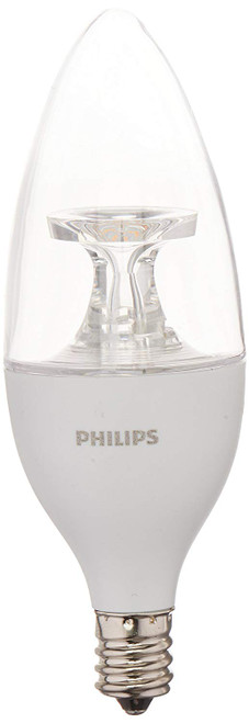 Philips Dimmable Efficient 4.5W B11 E12 120 Replacement LED Light Bulbs 3 Pack