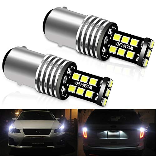 CIIHON 2PCS 1157 LED Brake Lights Bulb White 6000K 2057 7528 15-2835SMD 12V Back Up Reverse Rear Tail Light Bulbs Extremely Bright Replacement, 1 Year Warranty
