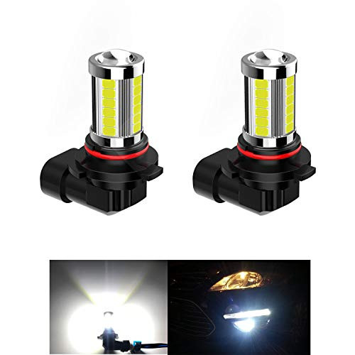 2pcs Super Bright 9045 9040 9140 H10 9145 LED Bulb, 33 SMD 6000K Pure White LED Fog Light Bulbs for DRL or Fog Lights …