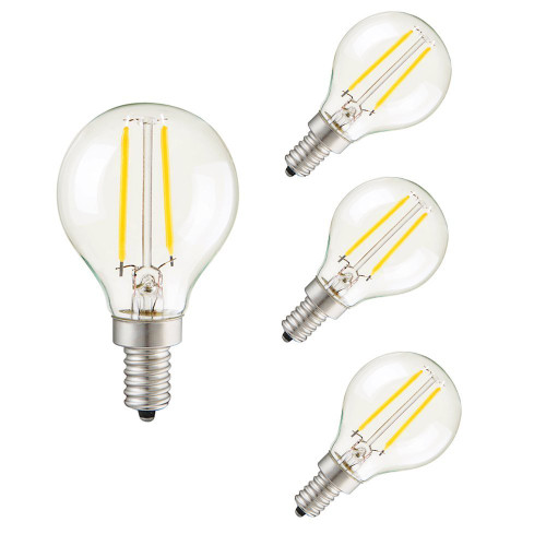 CTKcom 2W G45 LED Bulb Dimmable Edison Bulb(4 Pack)- E14 Base 6000K Cool White LED Vintage Edison Light Bulbs 20W Equivalent,For Home Pendant Lights Sconces Antique Light Fixtures G45 110V-130V,4 Pack