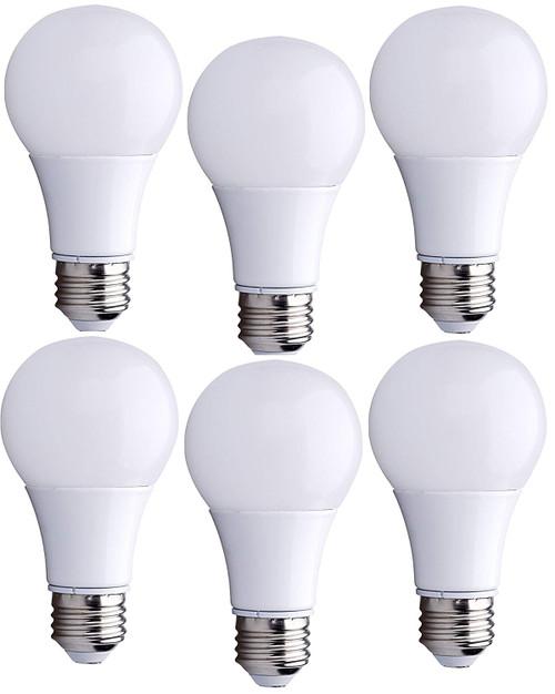 Bioluz LED A19 6w (40 Watt Equivalent) ECO Series Soft White (2700K) Light Bulbs 6-Pack