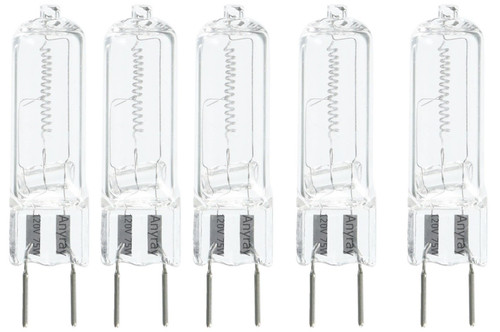 5-lamps G8 120V 75W 75 Watt Halogen Light Bulbs G8 Base