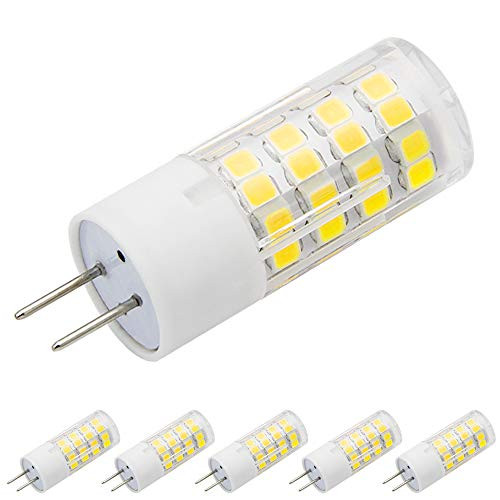 G6.35 LED Light Bulbs 5 Watts 120 Voltage Warm White 3000K G6.35/GY6.35 Bi-Pin Base 45W Halogen Bulbs Equivalent (Pack of 5)