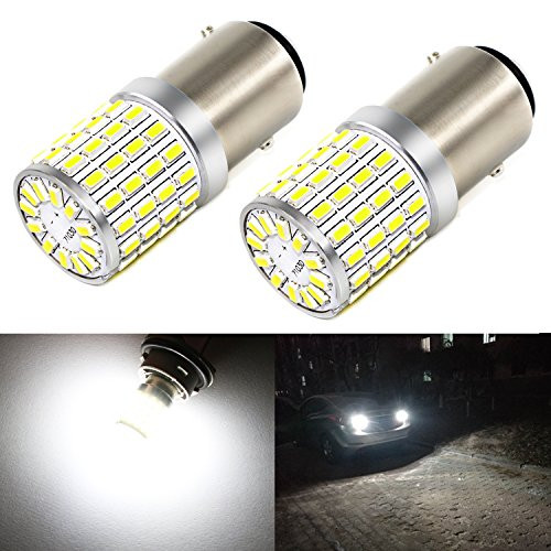 Carr Lighting 1000 Lumens Super Bright 6000K Xenon White 3014 72-SMD 1157 2357 7528 BAY15D LED Light Bulbs for Backup Reverse Turn Signal Lights