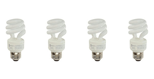 EcoSmart 9 Watt Soft White Compact Fluorescent (CFL) Light Bulbs 4-Pack, 40 Watt Equivalent, 550 Lumens