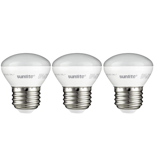 Sunlite R14/LED/E26/4W/D/27K/3PK 2700K LED R14 Mini-Reflector Floodlight 4W, 25W Equivalent Light Bulbs with Medium E26 Base (3 Pack), Warm White