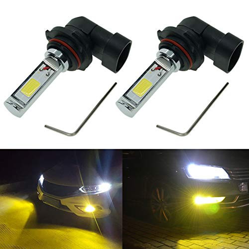 Calais 9145 H10 9140 LED Bulb Yellow 3000K Super Bright COB Chips 2000 Lumens 9040 9045 LED Fog Light Bulbs lamps Replacement (Set of 2)